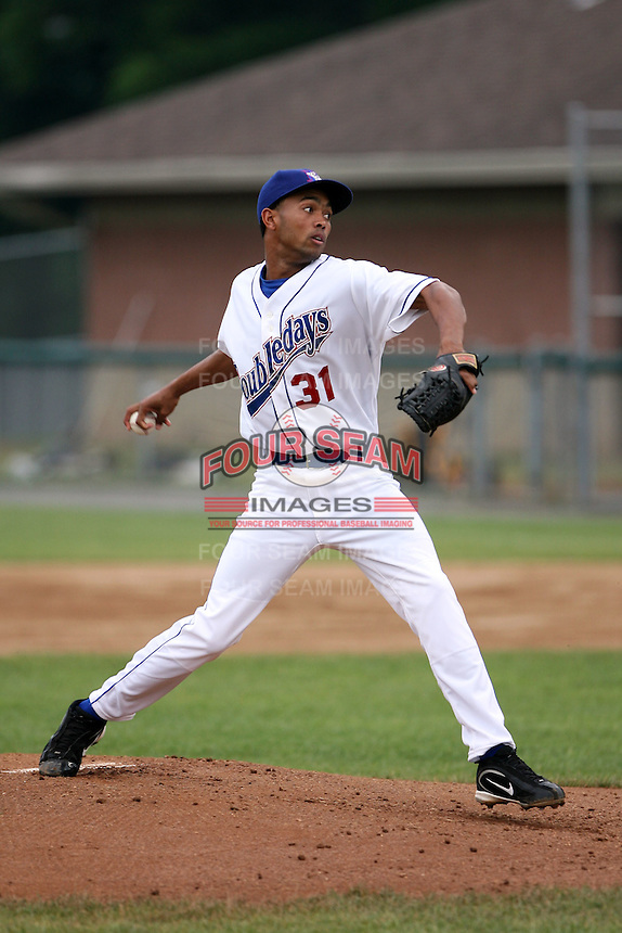 June 26th 2008: Castillo Perez of the Auburn Doubledays, Class-A affiliate of the Toronto Blue Jays, during a game at Falcon Park in Auburn, NY.  Photo by:  Mike Janes/Four Seam Images