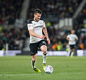 8th September 2017, Pride Park Stadium, Derby, England; EFL Championship football, Derby County versus Hull City; David Nugent of Derby County on the attack with the ball