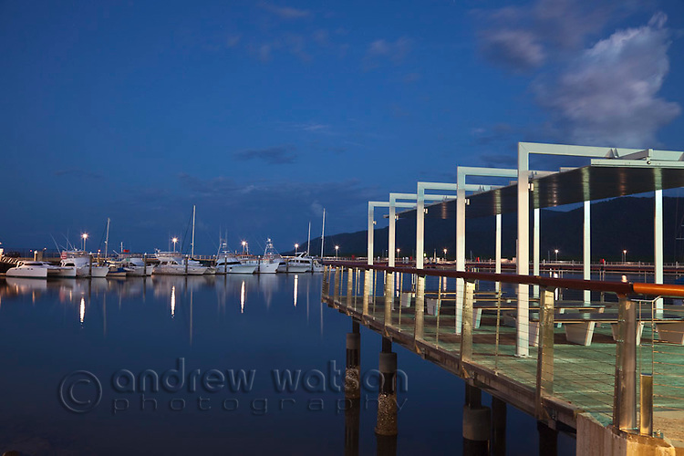 Twilight at Marina Point.  Cairns, Queensland, Australia