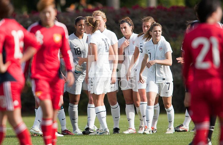 Carson, California - Thursday April 12, 2012: USA Women's National Team U-20 vs. China Friendly match on Glenn 'Mooch' Myernick field.