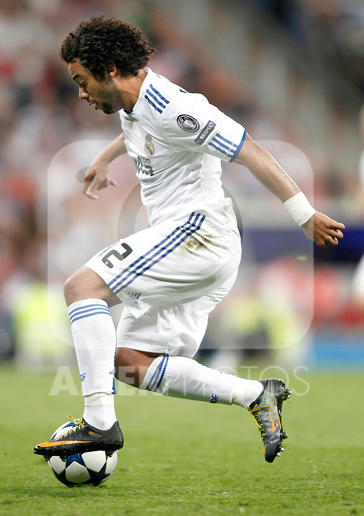 Real Madrid's Marcelo during Champions League Match. April 05, 2011. (ALTERPHOTOS/Alvaro Hernandez)