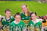 Kerry Fans Connor McKenna, Alan Scanlon, Rosemary and Sinead McKenna at the Munster Semi-Final Replay at Park Ui Caoimh on Sunday