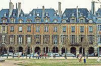 Paris: Places des Vosges, 1605-1612. Oldest planned square in Paris.