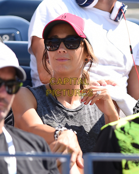 FLUSHING NY- AUGUST 27:  Rebecca Hewitt is seen watching her husband Lleyton Hewitt Vs Thomas Berdych on Arthur Ashe stadium at the USTA Billie Jean King National Tennis Center on August 27, 2014 inFlushing Queens. <br /> CAP/MPI/mpi04<br /> &copy;mpi04/MediaPunch/Capital Pictures