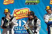IMSA WeatherTech SportsCar Championship<br /> Sahlen's Six Hours of the Glen<br /> Watkins Glen International, Watkins Glen, NY USA<br /> Sunday 2 July 2017<br /> 63, Ferrari, Ferrari 488 GT3, GTD, Alessandro Balzan, Christina Nielsen, Matteo Cressoni 93, Acura, Acura NSX, GTD, Andy Lally, Katherine Legge 96, BMW, BMW M6 GT3, GTD, Justin Marks, Jens Klingmann podium champagne<br /> World Copyright: Michael L. Levitt/LAT Images