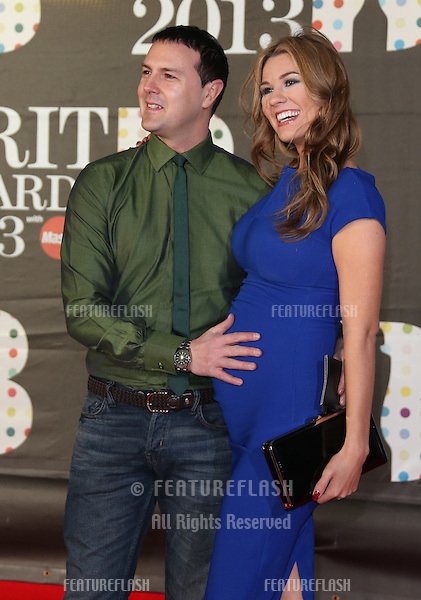 Paddy McGuinness and wife Christine Martin arriving for the Brit Awards 2013 at the O2 Arena, Greenwich, London. 20/02/2013 Picture by: Henry Harris / Featureflash