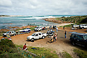 The Gracetown boatramp with all the traffic, Western Australia