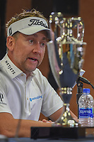 Ian Poulter (GBR) in post match press conference after winning the Houston Open, Golf Club of Houston, Houston, Texas. 4/1/2018.<br /> Picture: Golffile | Ken Murray<br /> <br /> <br /> All photo usage must carry mandatory copyright credit (&copy; Golffile | Ken Murray)