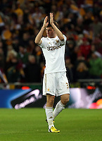 Pictured: Ben Davies. Sunday 24 February 2013<br /> Re: Capital One Cup football final, Swansea v Bradford at the Wembley Stadium in London.
