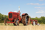 McCormick-Deering tractor with plow along the road in rural North Dakota (late 1920s-early 1930s)