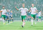 Stockholm 2014-09-28 Fotboll Superettan Hammarby IF - IK Sirius :  <br /> Hammarbys Erik Israelsson har gjort 1-0 och jublar med lagkamrater<br /> (Foto: Kenta J&ouml;nsson) Nyckelord:  Superettan Tele2 Arena Hammarby HIF Bajen Sirius IKS jubel gl&auml;dje lycka glad happy