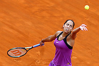La statunitense Madison Keys al servizio durante la finale femminile degli Internazionali d'Italia di tennis a Roma, 15 maggio 2016.<br /> United States' Madison Keys serves the ball to her compatriot Serena Williams during the women's final match of the Italian Open tennis in Rome, 15 May 2016.<br /> UPDATE IMAGES PRESS/Riccardo De Luca