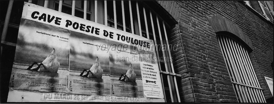Europe/France/Midi-Pyrénées/31/Haute-Garonne/Toulouse: Affiche pour un spectacle de poésie sur le canard   - icone  de la cuisine du Sud-Ouest