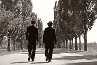 1945 (2017)<br /> Hermann S&aacute;muel (Iv&aacute;n Angelus) and his son (Marcell Nagy) walk through the Hungarian countryside towards the village<br /> *Filmstill - Editorial Use Only*<br /> CAP/FB<br /> Image supplied by Capital Pictures