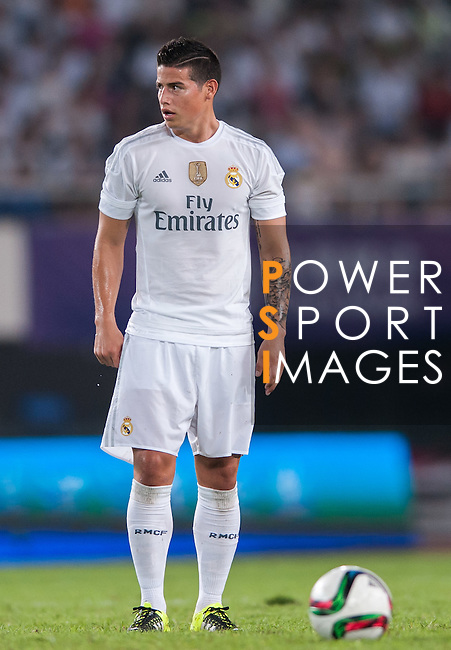 James Rodriguez of Real Madrid CF looks on during the FC Internazionale Milano vs Real Madrid  as part of the International Champions Cup 2015 at the Tianhe Sports Centre on 27 July 2015 in Guangzhou, China. Photo by Hendrik Frank / Power Sport Images