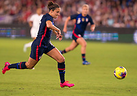 5th March 2020, Orlando, Florida, USA;  the United States forward Carli Lloyd (10) looks to shoot during the Women's SheBelieves Cup soccer match between the USA and England on March 5, 2020 at Exploria Stadium in Orlando, FL.