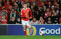 Wales'  Ben Woodbury<br /> <br /> Photographer Ian Cook/CameraSport<br /> <br /> FIFA World Cup Qualifying - European Region - Group D - Wales v Republic of Ireland - Monday 9th October 2017 - Cardiff City Stadium - Cardiff<br /> <br /> World Copyright &copy; 2017 CameraSport. All rights reserved. 43 Linden Ave. Countesthorpe. Leicester. England. LE8 5PG - Tel: +44 (0) 116 277 4147 - admin@camerasport.com - www.camerasport.com