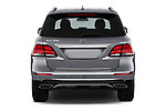 Straight rear view of 2018 Mercedes Benz GLE-Class GLE350 5 Door SUV Rear View  stock images