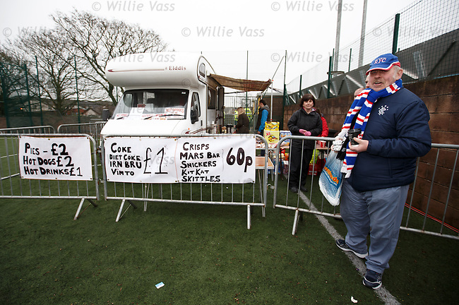 The Annan Athletic catering caravan