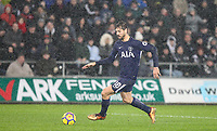 Fernando Llorente of Spurs during the Premier League match between Swansea City and Tottenham Hotspur at the Liberty Stadium, Swansea, Wales on 2 January 2018. Photo by Mark Hawkins / PRiME Media Images.