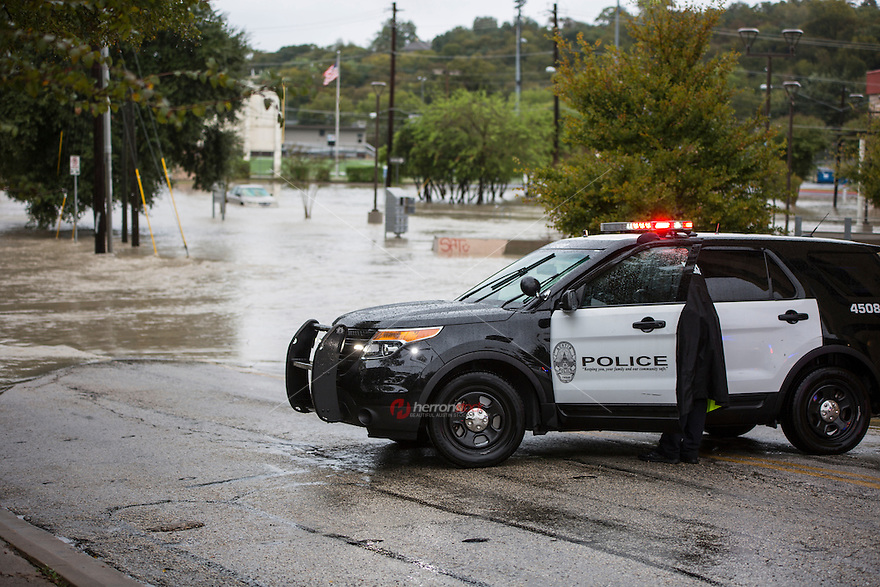Flash Flooding closed many roads and low water crossings in downtown Austin, <br />