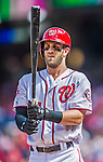 20 September 2015: Washington Nationals outfielder Bryce Harper steps up to bat against the Miami Marlins at Nationals Park in Washington, DC. The Nationals defeated the Marlins 13-3 to take the final game of their 4-game series. Mandatory Credit: Ed Wolfstein Photo *** RAW (NEF) Image File Available ***
