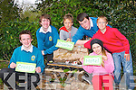CREEPY CRAWLEE HOTEL: Students from Mounthawk Secondary school who built a Creepy Crawlee Hotel at the Educate Together NS, Tralee as part of the ECO UNESCO young environmentalist awards in Bio Diversity with some of the students from the Educate Together NS on Friday l-r: Lucas Cronin, Marcus O'Brien, Marek Sliwka, Mark O'Connor, Kacper Sliwka and Jagoda Waszkiewicz...