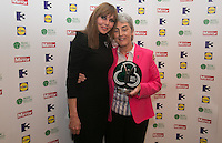 03/06/2014  <br /> Sister Helen Culhane who recieved the Lidl&rsquo;s Local Hero award from  Carol Vorderman<br /> during the Pride of Ireland awards at the Mansion House, Dublin.<br /> Photo: Gareth Chaney Collins