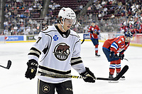 HERSHEY, PA - DECEMBER 01: Hershey Bears center Mike Sgarbossa (17) skates in for a face-off during the Springfield Thunderbirds at Hershey Bears on December 1, 2018 at the Giant Center in Hershey, PA. (Photo by Randy Litzinger/Icon Sportswire)