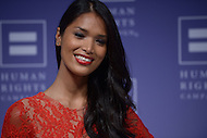 Washington, DC - October 25, 2014: International model Geena Rocero walks the red carpet at the Human Rights Campaign's National Dinner, October 25, 2014, at the Walter E. Washington Convention Center in the District of Columbia. Philippine born Rocero made headlines after coming out as transgender.   (Photo by Don Baxter/Media Images International)