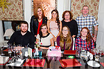 Erica Healy from Oakpark, Tralee celebrating her 21st birthday with family and friends on Saturday night at the Brogue Inn. Pictured front l-r  Kian Egan, Lisa O'Flaherty, Aoife Healy and Rebecca O'Neill. Back l-r  Odette Egan, Erica Healy, Derina Healy and Paul Phelan.