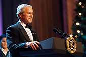 United States President George W. Bush makes remarks at the annual Ford's Theatre Gala in Washington, DC, which is being taped now for a Christmastime airing, on June 24, 2007. <br /> Credit: Chris Maddaloni / Pool via CNP