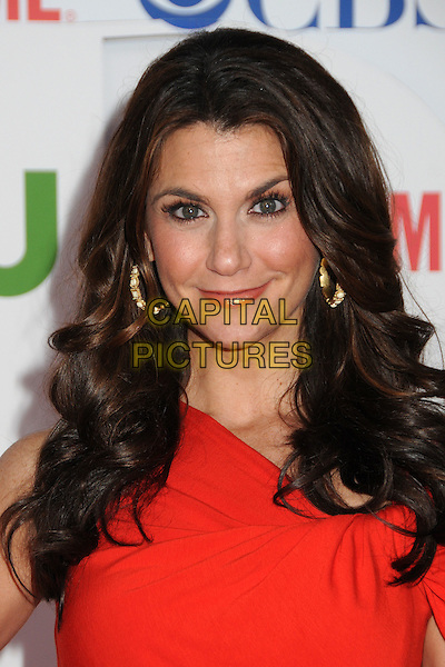 Samantha Harris.CBS, CW and Showtime Summer 2011 TCA Party held at The Pagoda, Beverly Hills, California, USA..August 3rd, 2011.headshot portrait red gold hoop earrings.CAP/ADM/BP.©Byron Purvis/AdMedia/Capital Pictures.