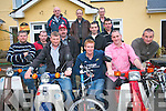 A group of Honda 50's and electric bikes along with supporters are to make their way to from the Highest Pub in Ireland 'Top of Coom' in Kilgarvan to the Highest Pub in England 'The Tan HIll' to raise funds for charity. .Back L-R Andy Scannell, Damien Dineen, Michael Twomey .Middle L-R Donnacha Mullins, Tadhg Dineen, Donal McCarthy and Tim Creedon .Front L-R Michael Twomey, John A Murphy, Eoghan O'Sullivan, James Hickey and Davy McCarthy.