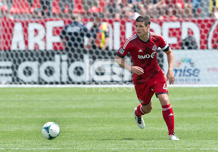 29 June 2013: Toronto FC defender Darren O'Dea #48 in action during an MLS game between Real Salt Lake and Toronto FC at BMO Field in Toronto, Ontario Canada.<br /> Real Salt Lake won 1-0.