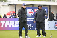 Keith Pelley CEO European Tour Peter Fleetwood during the Hero Pro-am at the Betfred British Masters, Hillside Golf Club, Lancashire, England. 08/05/2019.<br /> Picture Fran Caffrey / Golffile.ie<br /> <br /> All photo usage must carry mandatory copyright credit (&copy; Golffile | Fran Caffrey)