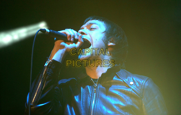 KASABIAN.Performing on stage at the V2006 Festival, Hylands Park, Chelmsford, England. .20th August 2006 .August 20th, 2006.Ref: BEL.concert live gig performance music headshot portrait black jacket leather singing.www.capitalpictures.com.sales@capitalpictures.com.©Tom Belcher/Capital Pictures.