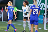 Portland, OR - Saturday May 27, 2017: Abby Smith during a regular season National Women's Soccer League (NWSL) match between the Portland Thorns FC and the Boston Breakers at Providence Park.
