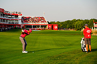 Tony Finau (USA) on the 18th fairway during the 3rd round at the WGC HSBC Champions 2018, Sheshan Golf CLub, Shanghai, China. 27/10/2018.<br /> Picture Fran Caffrey / Golffile.ie<br /> <br /> All photo usage must carry mandatory copyright credit (&copy; Golffile | Fran Caffrey)