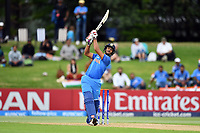 India's opening batsman Manjot Kalra in action while batting during the ICC U-19 Cricket World Cup 2018 Finals between India v Australia, Bay Oval, Tauranga, Saturday 03rd February 2018. Copyright Photo: Raghavan Venugopal / © www.Photosport.nz 2018 © SWpix.com (t/a Photography Hub Ltd)