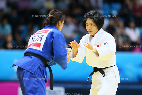 Misato Nakamura (JPN), <br /> SEPTEMBER 23, 2014 - Judo : <br /> Women's Team Final <br /> at Dowon Gymnasium <br /> during the 2014 Incheon Asian Games in Incheon, South Korea. <br /> (Photo by Yohei Osada/AFLO SPORT)