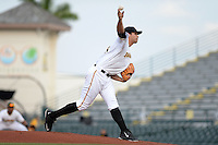 Bradenton Marauders pitcher Matt Benedict (23) delivers a pitch during a game against the Jupiter Hammerheads on April 18, 2015 at McKechnie Field in Bradenton, Florida.  Bradenton defeated Jupiter 4-1.  (Mike Janes/Four Seam Images)