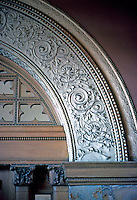 Louis Sullivan: Adler & Sullivan Auditorium Bldg. Interior detail.  Photo '78.