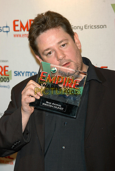 JOHNNY VEGAS.Empire Awards 2003.Dorchester Hotel.www.capitalpictures.com.sales@capitalpictures.com.© Capital Pictures.