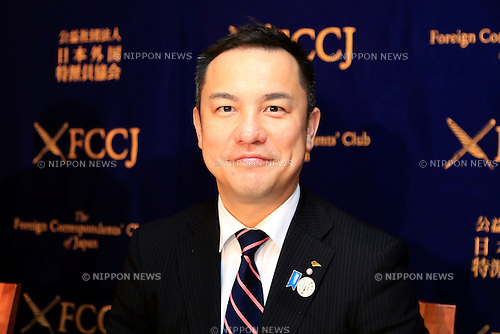 Eikei Suzuki Governor of Mie Prefecture poses for a photograph during a press conference about the preparation plans for the next G7 Summit to be held in Ise-Shima, Mie, in May 2016 at the Foreign Correspondents' Club of Japan on November 18, 2015, Tokyo, Japan. Suzuki also spoke about security for the summit in the wake of the recent terrorist attacks in Paris. In June, Prime Minister Shinzo Abe announced the Japanese prefecture for the venue of the next G7 summit, which will be the sixth to be held in Japan. The last time Japan hosted the event was in Toyako, Hokkaido in 2008. (Photo by Rodrigo Reyes Marin/AFLO)