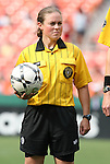 22 June 2008: Referee Meredith Hackett. The Washington Freedom defeated the Richmond Kickers Destiny 5-0 at RFK Stadium in Washington, DC in a United Soccer Leagues W-League friendly.