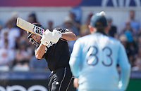 Colin de Grandhomme (New Zealand) pulls a short delivery straight to square leg and is dismissed for 3 during England vs New Zealand, ICC World Cup Cricket at The Riverside Ground on 3rd July 2019