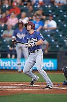 Frisco RoughRiders center fielder Ryan Cordell (20) hits a home run during a game against the Corpus Christi Hooks on April 23, 2016 at Whataburger Field in Corpus Christi, Texas.  Corpus Christi defeated Frisco 3-2.  (Mike Janes/Four Seam Images)
