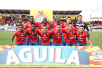 IPIALES - COLOMBIA, 05-06-2019: Jugadores del Pasto posan para una foto previo al partido por la fecha 6, cuadrangulares semifinales, de la Liga Águila I 2019 entre Deportivo Pasto y Unión Magdalena jugado en el estadio Estadio Municipal de Ipiales. / Players of Pasto pose to a photo prior match for the date 6, semifinal quadrangulars, as part of Aguila League I 2019 between Deportivo Pasto and Union Magdalena played at Municipal stadium of Ipiales.  Photo: VizzorImage / Leonardo Castro / Cont