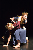 "17/12/2013. London, England. Pictured: Simone Damberg Würtz and Hannah Rudd. Rambert Dance Company present an ""Evening of new choreography"" with five new works choreographed by members of the Company at the Lilian Baylis Studio, Sadler's Wells, London.  Piece: ""Hikikomori"" choregraphed by Malgorzata Dzierzon with Luke Ahmet, Lucy Balfour, Adam Blyde, Carolyn Bolton, Antonette Dayrit, Hannah Rudd, Pierre Tappon and Simone Damberg Würtz dancing. Photo credit: Bettina Strenske"